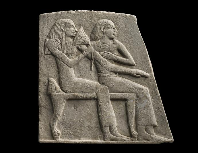 Relief depicting a Seated Couple