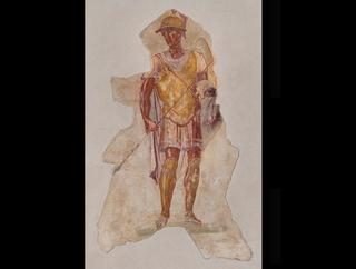 mobile version - Fresco of Alexander in Military Uniform