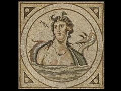 Mosaic depicting Tethys