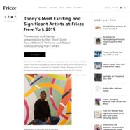Frieze, February 11, 2019