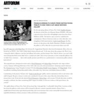 Artforum, April 19, 2019
