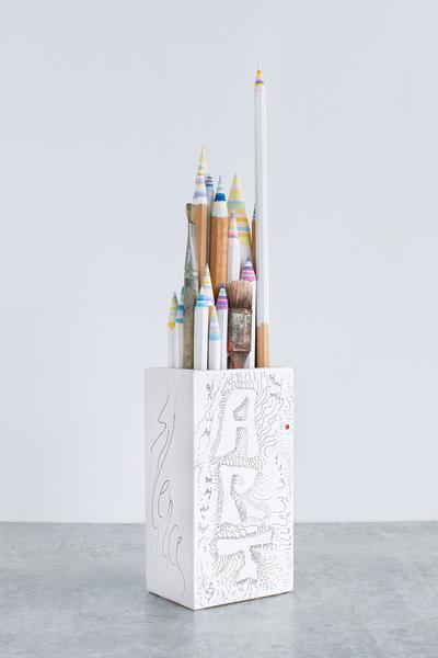 Pencil Pencelle (80/2015), 2015 ink, graphite, pai...