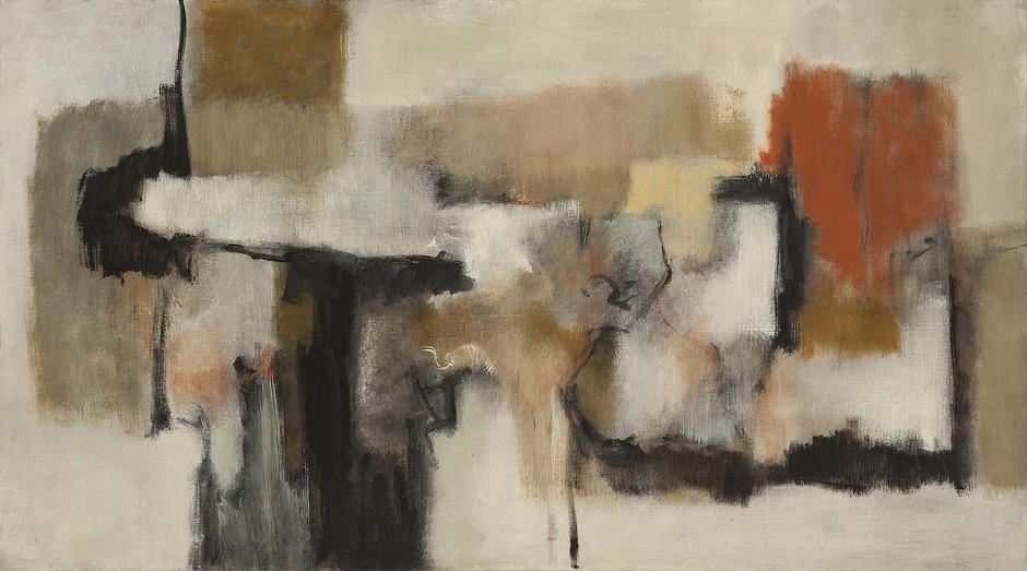 "Untitled, c.1959 oil on canvas 27 3/4"" x 50&q..."