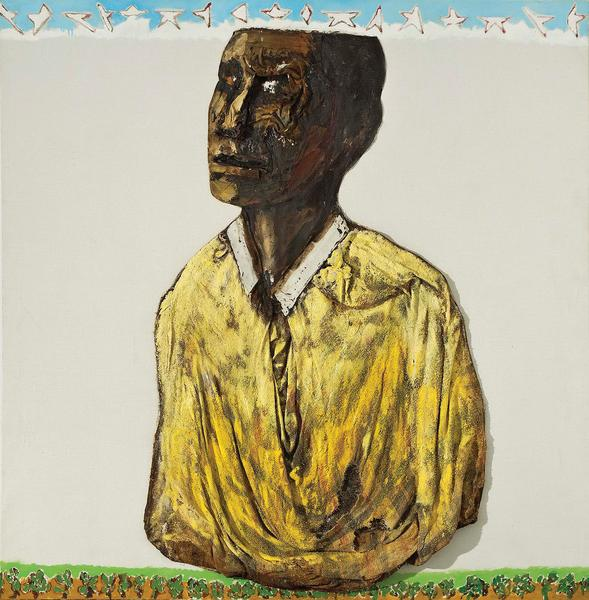 Benny Andrews (1930-2006) A Soul, 1974 oil on canv...