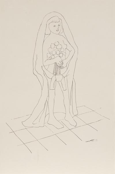 Benny Andrews (1930-2006) Bride (Study for Symbols...