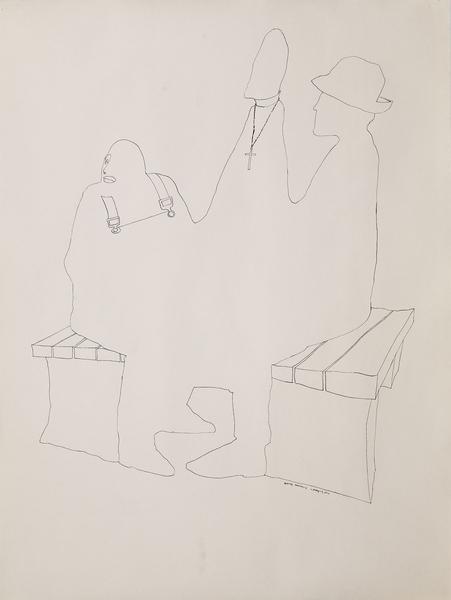 Benny Andrews (1930-2006) Chessmen #2 (Study for T...