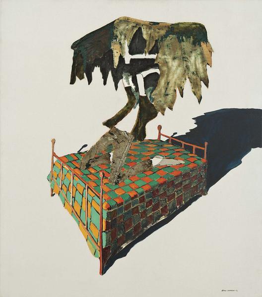 Benny Andrews (1930-2006) Circle Study #10, 1972 o...