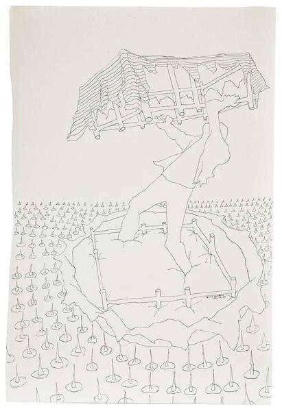 Benny Andrews (1930-2006) Circle Study #15, 1972 i...