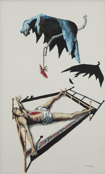 Benny Andrews (1930-2006) Circle Study #22, 1973 o...