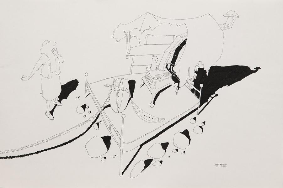 Benny Andrews (1930-2006) Circle Study #32, 1972 i...