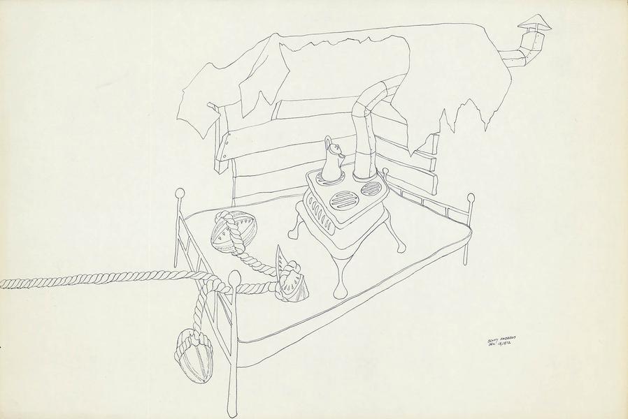 Benny Andrews (1930-2006) Circle Study #33, 1972 i...