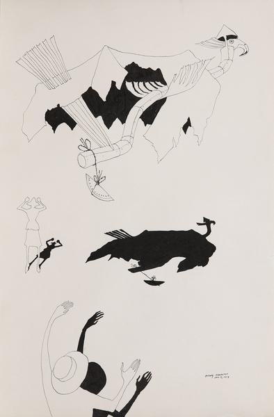 Benny Andrews (1930-2006) Circle Study #46, 1973 i...