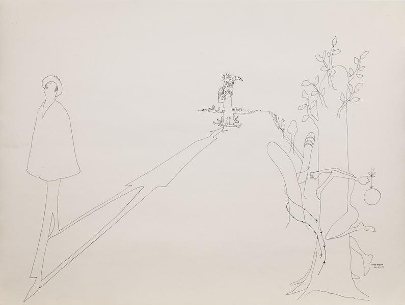 Benny Andrews (1930-2006) Composition #8 for Trash...