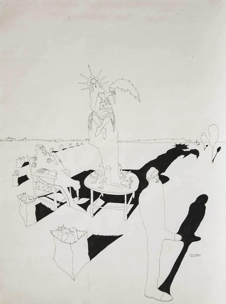 Benny Andrews (1930-2006) Composition #9 for Trash...