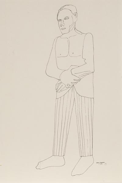 Benny Andrews (1930-2006) Groom (Study for Symbols...