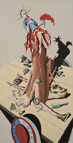 Liberty #6 (Study for Trash),1971 oil on can...