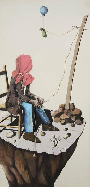 Benny Andrews (1930-2006) Poverty (Study #1-A for...