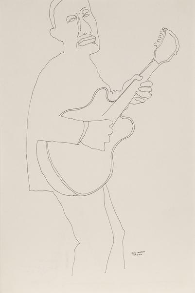 Benny Andrews (1930-2006) Strummer (Study for Symb...