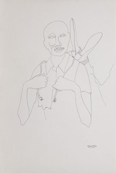 Benny Andrews (1930-2006) Study #1 (for War), 1974...