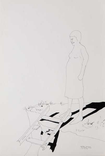 Benny Andrews (1930-2006) Study #8 (For War), 1974...