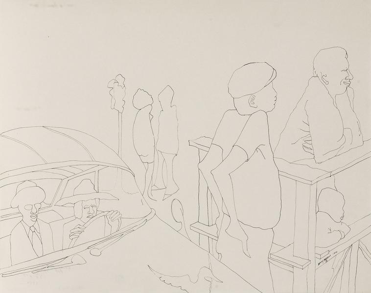 Benny Andrews (1930-2006) Symbols Study #31, 1970...