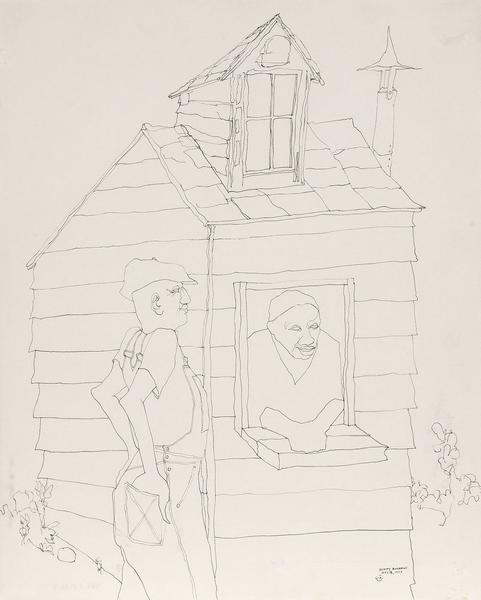 Benny Andrews (1930-2006) Symbols Study #37, 1970...