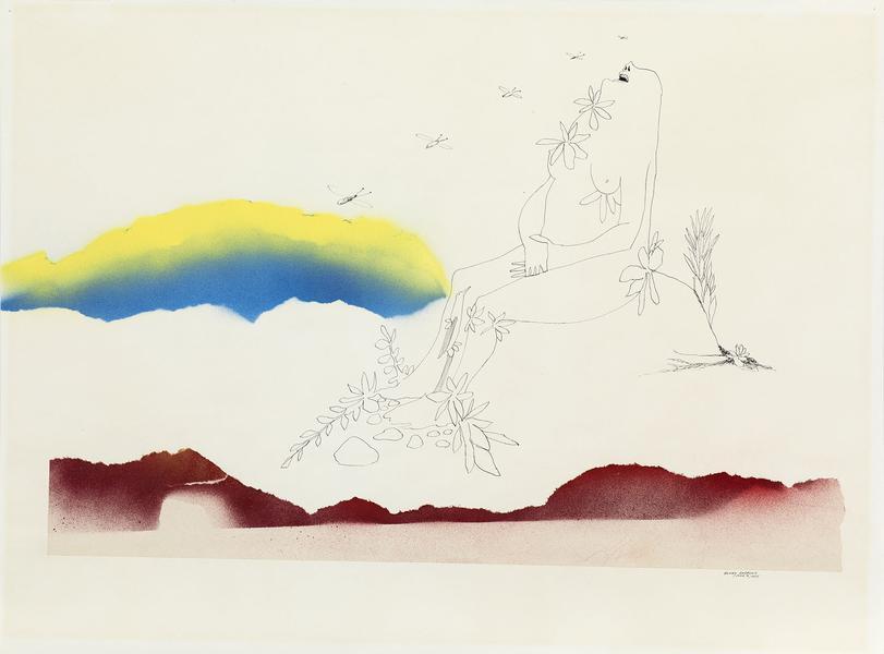 Benny Andrews (1930-2006) Utopias Study #7, 1975 i...