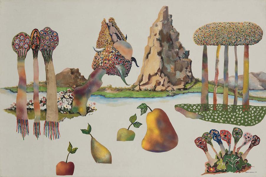 Benny Andrews (1930-2006) Utopias Study #8, 1975 o...