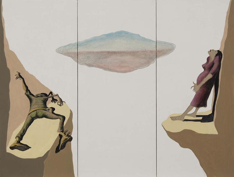 Benny Andrews (1930-2006) War Study #14, 1974 oil...