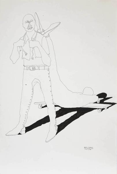 Benny Andrews (1930-2006) War Study #2, 1974 india...