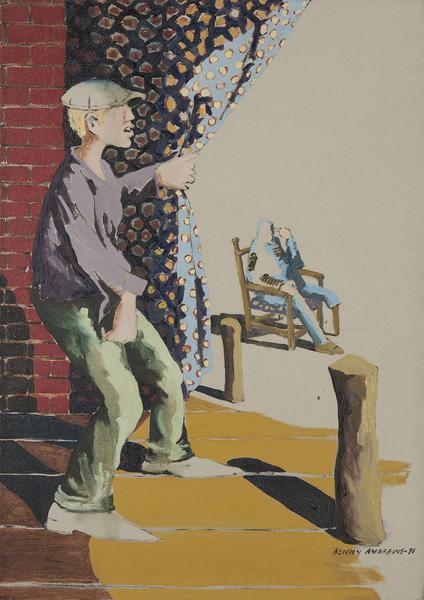 Benny Andrews (1930-2006) White (Study for Trash),...