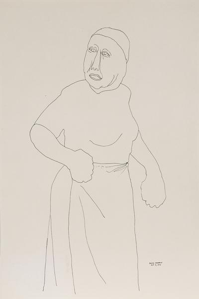 Benny Andrews (1930-2006) Woman (Study from Symbol...
