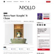 Apollo Magazine, October 27, 2018