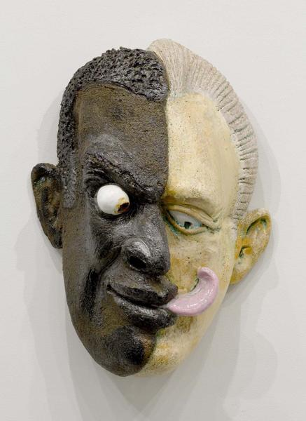 Robert Arneson (1930-1992) Split Lick, 1991 glazed...