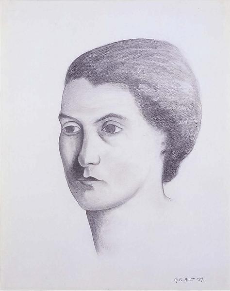 """Ossi, 1927 graphite on paper 14 1/4"""" x 11 1/4"""", si..."""
