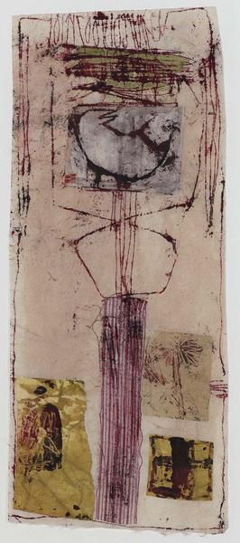 Untitled, 1983 mixed media collage with fabric, pa...