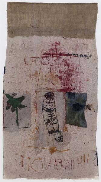 Untitled, 1980 mixed media collage with fabric, pa...