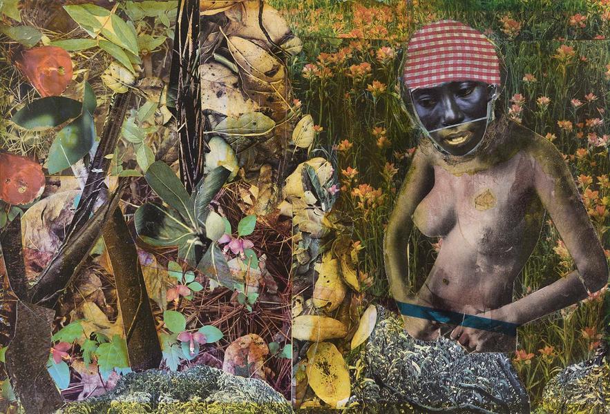 Romare Bearden (1911-1988) Blue Shade, 1972 mixed...
