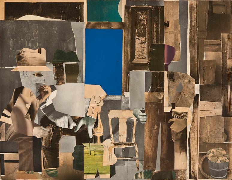 Romare Bearden (1911-1988) Gray Interior, 1969 mix...