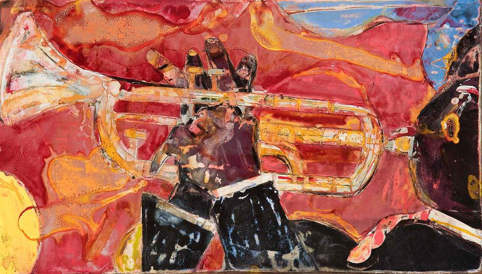 Romare Bearden (1911-1988) Solo Riff, 1986 mixed m...