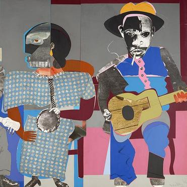 Romare Bearden (1911-1988), Soul Three (detail), 1...