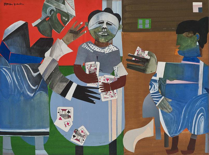 Romare Bearden (1911-1988) The Gamble, 1968 mixed...