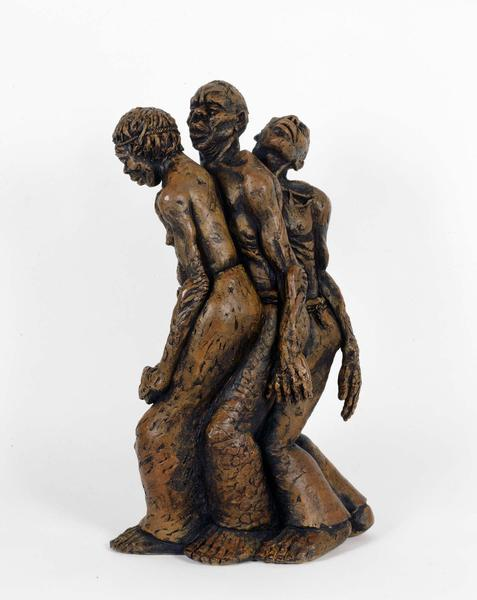 "Freedom March, 1952 terracotta 20 1/2"" x 7 1/2"" x..."