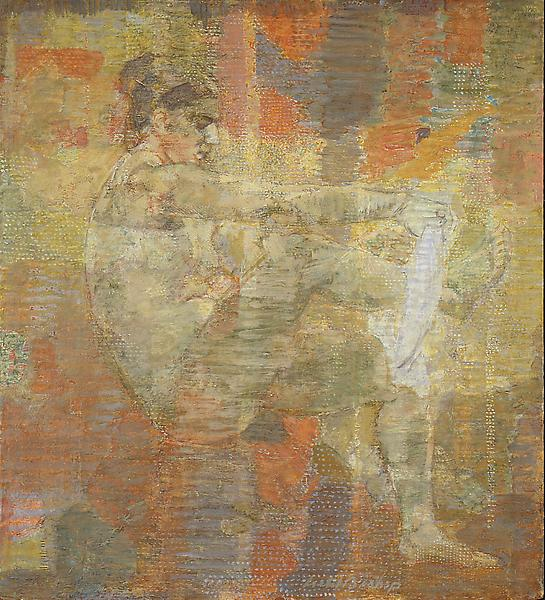 Seated Nude, 1967 oil and tempera on gesso panel 2...