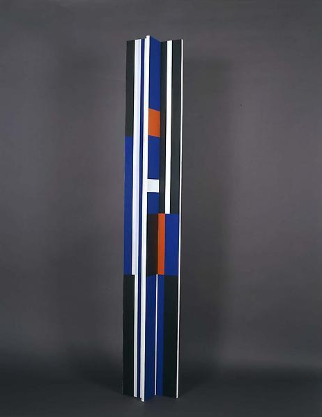 "Untitled [MR9], 1978 acrylic on wood 84"" x 12"" x 8..."