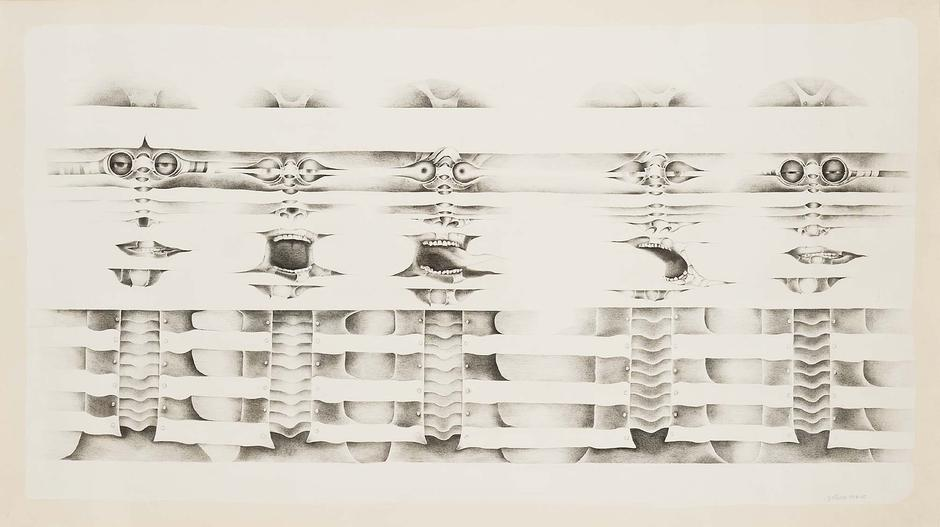 Untitled, 1974-75 graphite on gessoed paper 43 1/8...