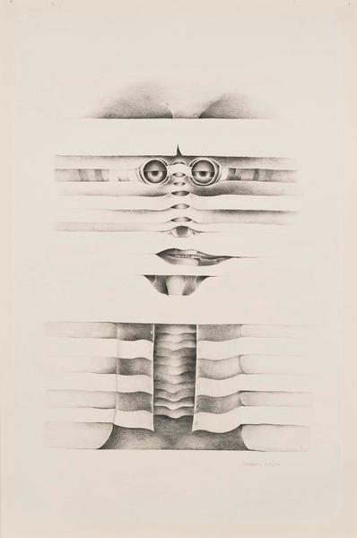 Lee Bontecou (b.1931) Untitled, 1972-73 graphite a...