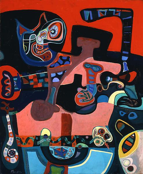 The Jungle, 1945 oil on canvas 32 x 26 inches, sig...