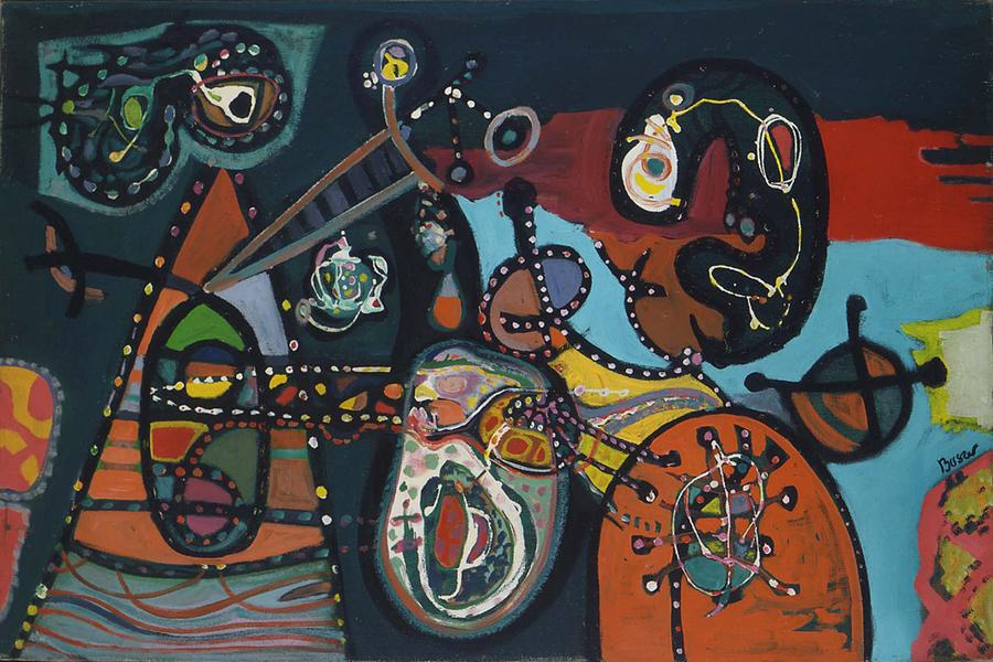 "The Thing In The Present, 1946 oil on canvas 20"" x..."
