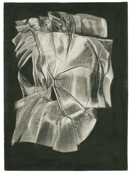 Barbara Chase-Riboud Le Lit, 1966-73 charcoal and...